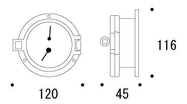 壁掛け・温湿度計・温度計/湿度計:g-7g1021k1  参考図