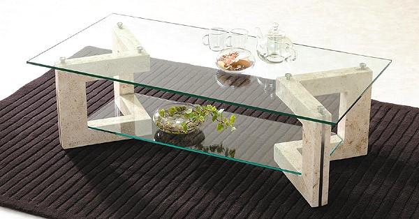 ガラス・テーブル、リビングテーブル、センターテーブル、コーヒーテーブル、ローテーブル「GRTAR-MaS-2r」