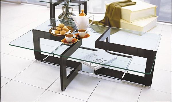 ガラス・テーブル、リビングテーブル、センターテーブル、コーヒーテーブル、ローテーブル「AR-YG-21」