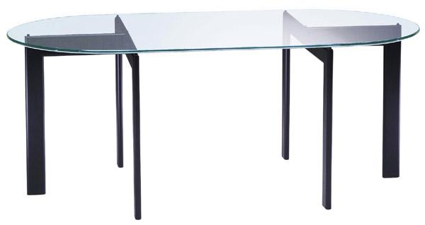 ガラス・テーブル、オフィステーブル、会議机、コーヒーテーブル、ダイニングテーブル「AR-YT-17+YT-01」