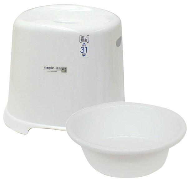 バスチェアー&ウォッシュボール(洗面器、風呂桶、湯おけ、手おけ)セット