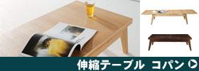 コパンシリーズ 北欧風伸縮テーブル