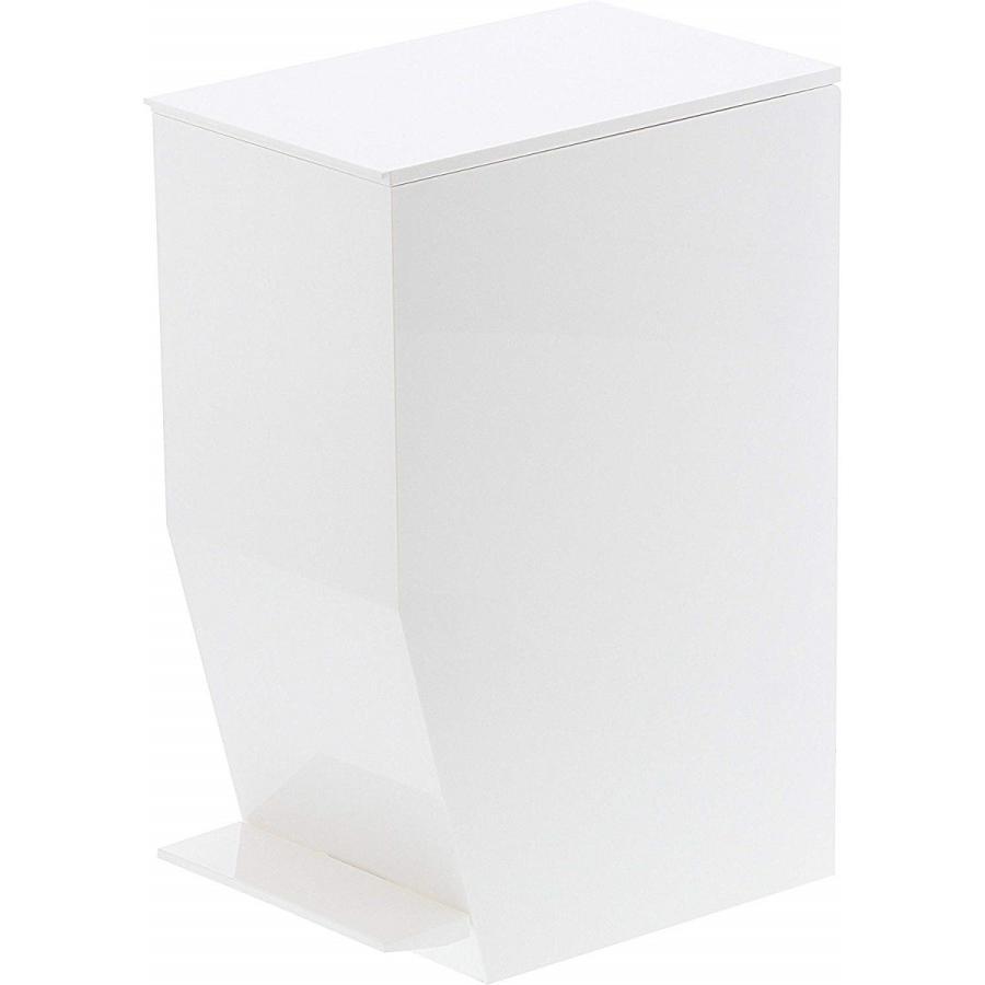 ゴミ箱 ペダル式トイレポット タワー ホワイト ブラック サニタリー 持ち手あり 袋止めあり|kagu-piena|15