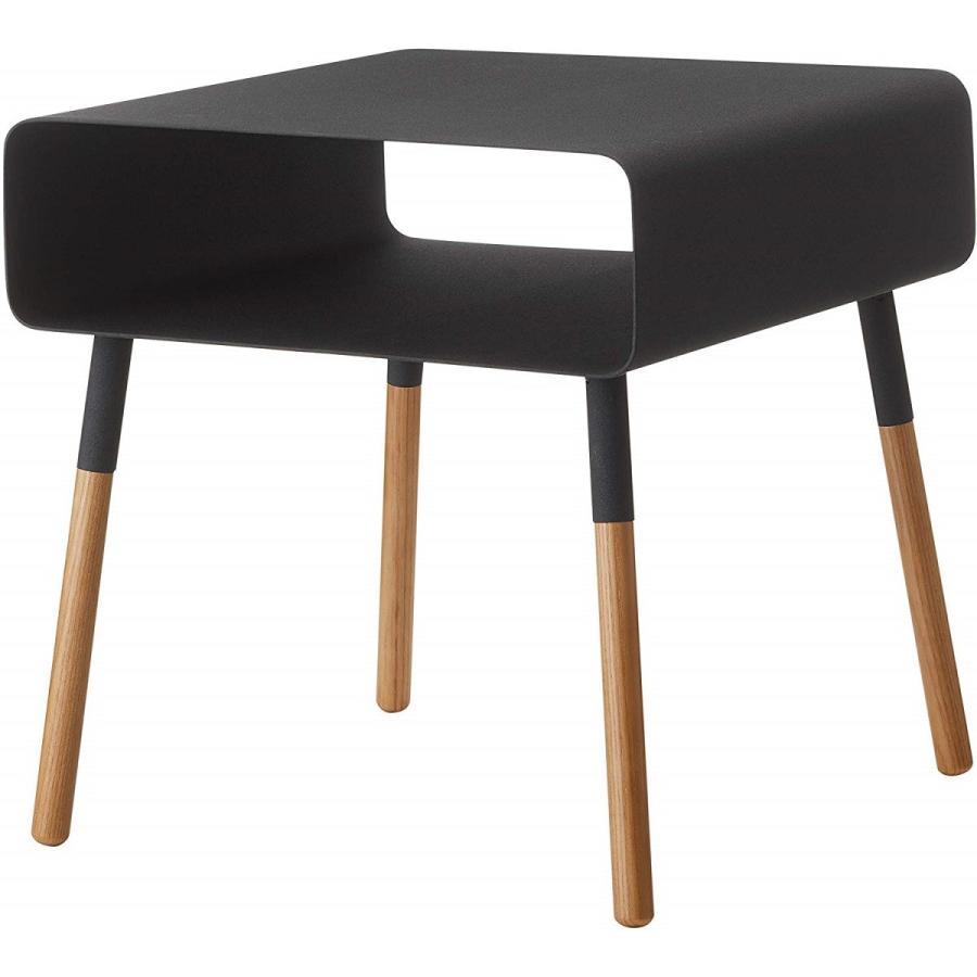 ローサイドテーブル ホワイト ブラック ソファー横 ベッド横 棚付き 天然木 スクエア|kagu-piena|18
