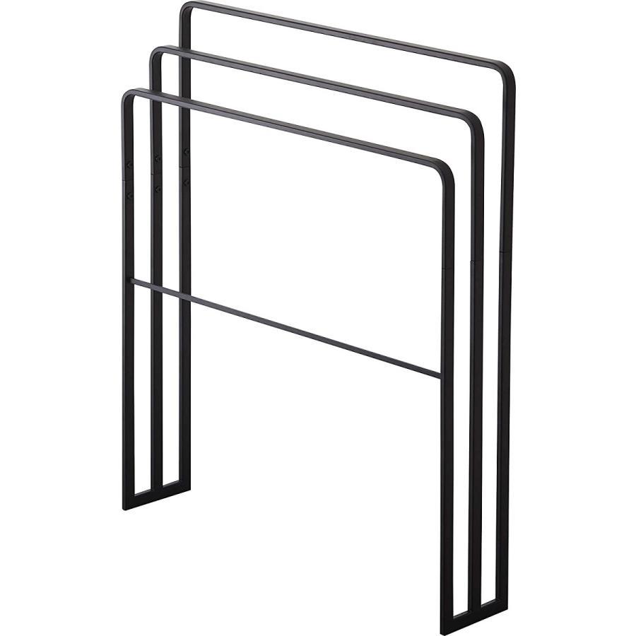 横から掛けられるバスタオルハンガー タオル掛け 大判サイズも干せる 3連 薄型 ホワイト ブラック 白 黒 洗濯物干し|kagu-piena|16