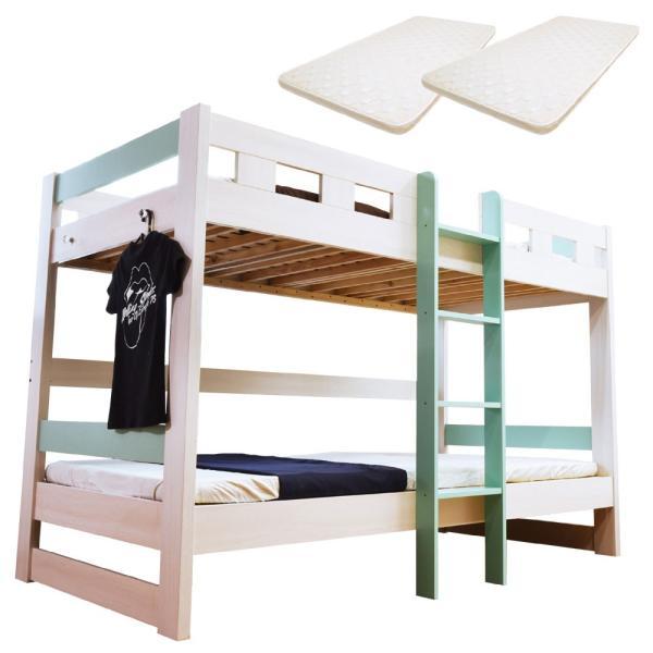 二段ベッド 2段ベッド ロータイプ2段ベッド ローシェンEX2-ART(パームマット付き)|kagu-try|12