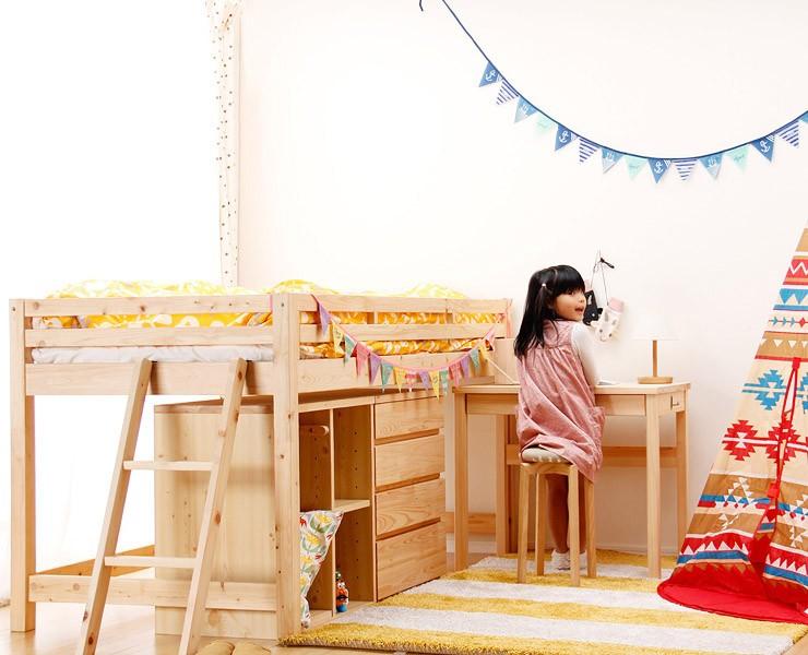 子供部屋のスペースを有効活用!ミドルベッド特集