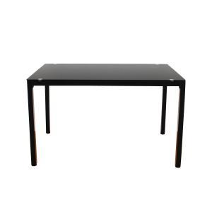 テーブル ダイニングテーブル ダイニング ガラス ガラステーブル ホワイト ブラック スチールシンプル コンパクト 4人掛 モダン 幅120cm|kagu350|06