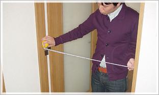 2. 玄関からお部屋までのチェックポイント:搬入するお部屋の入り口の幅をチェック。