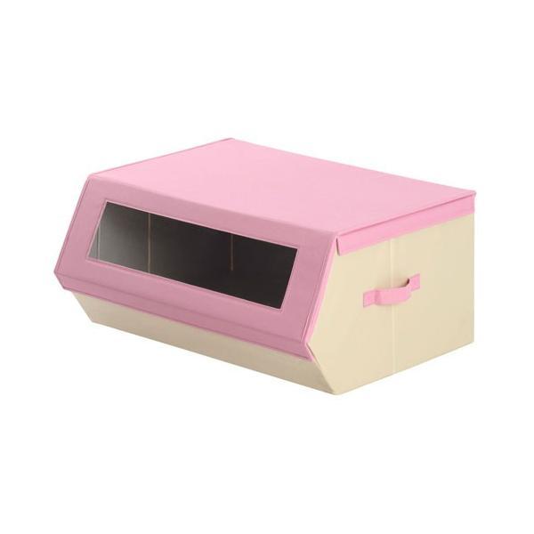 収納ケース おしゃれ 布 前開き 持ち運び 子供 おもちゃ 小物 おもちゃ箱 蓋付き マグネット 収納 ボックス 窓付き|kagubiyori|34