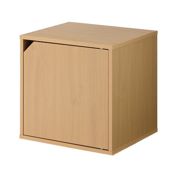 キューブボックス 収納 扉付き 本棚 カラーボックス 収納ボックス キューブラック 木製 絵本 コミック A4 CD 1段 2段 子供 おしゃれ 北欧|kagubiyori|26