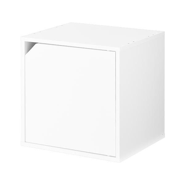 キューブボックス 収納 扉付き 本棚 カラーボックス 収納ボックス キューブラック 木製 絵本 コミック A4 CD 1段 2段 子供 おしゃれ 北欧|kagubiyori|28