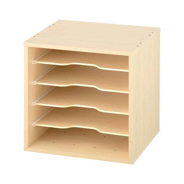 キューブボックス 収納 引き出し 扉 仕切り オープン フラップチェスト 収納ボックス 奥行30cm 木製 A4 子供部屋 おしゃれ|kagubiyori|36