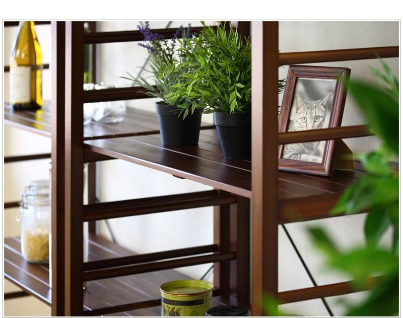 木の温かみ溢れる木製ラック[マナ] コンパクトな4段タイプ ご好評により新色追加