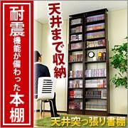 耐震 つっぱり書棚 幅60cm 奥行19cm