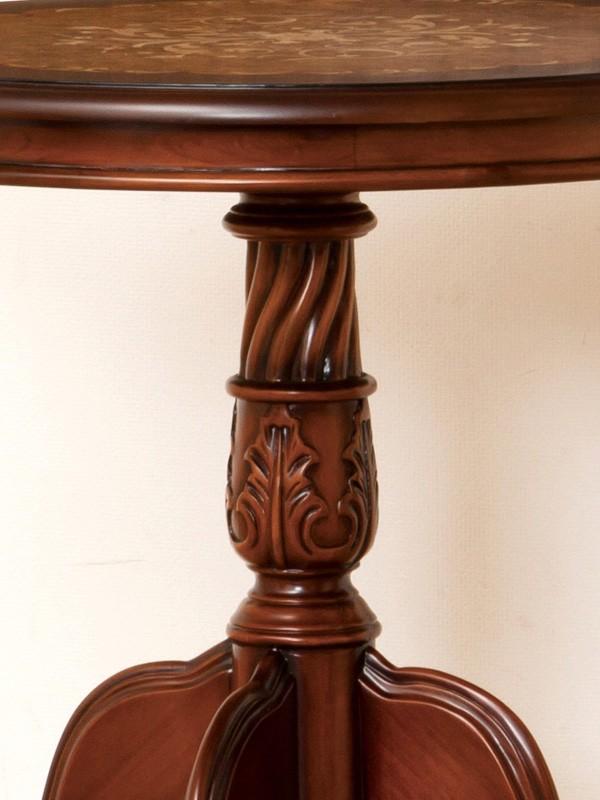 アンティーク調 カフェテーブル ラウンドテーブル 幅60cm 送料無料