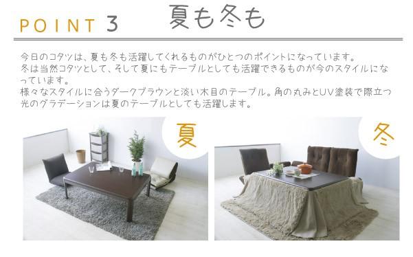こたつテーブル コロン継脚こたつ 120×80