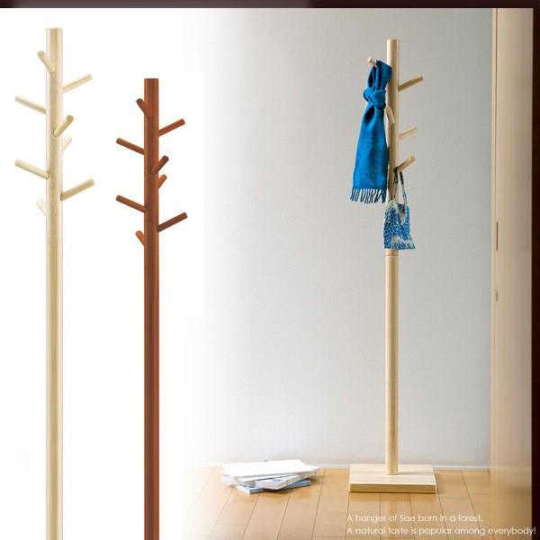 木製 ポールハンガー 高さ160cm