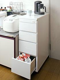日本製 完成品 キッチンカウンターワゴン 幅30 キャスター付きサイドチェスト【送料無料】