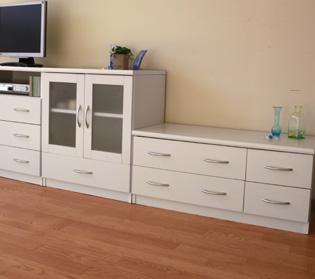 ◆組み立て配送◆ピュアホワイト [Branco(ブランコ)] ローチェスト 幅90cm