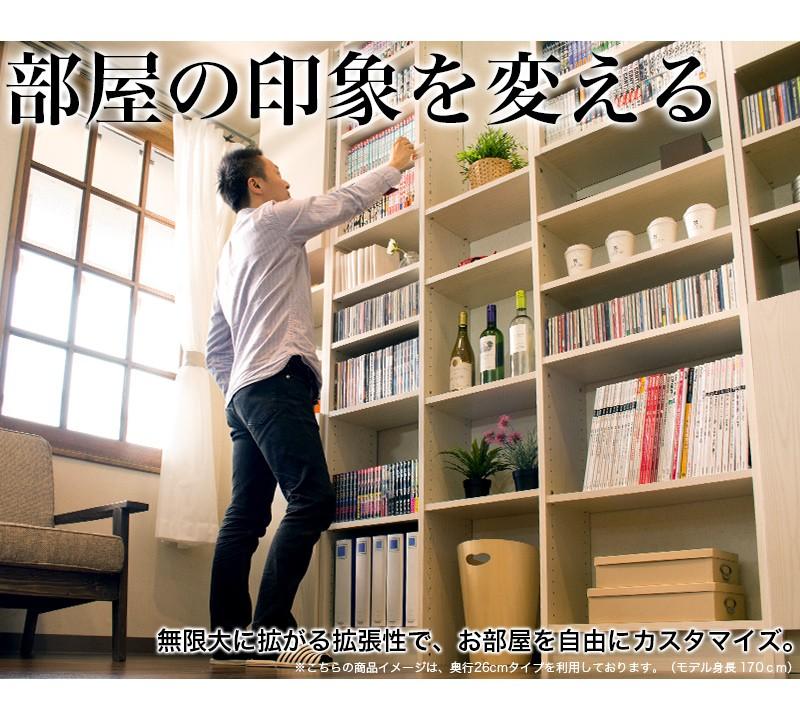可動棚の間隔は細かい3cmピッチ、好みに合わせて自由に移動可能。