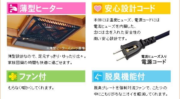 薄型ヒーター/安心設計コード/ファン付/脱臭機能付