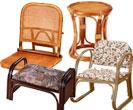 籐家具:座椅子・スツール・正座器