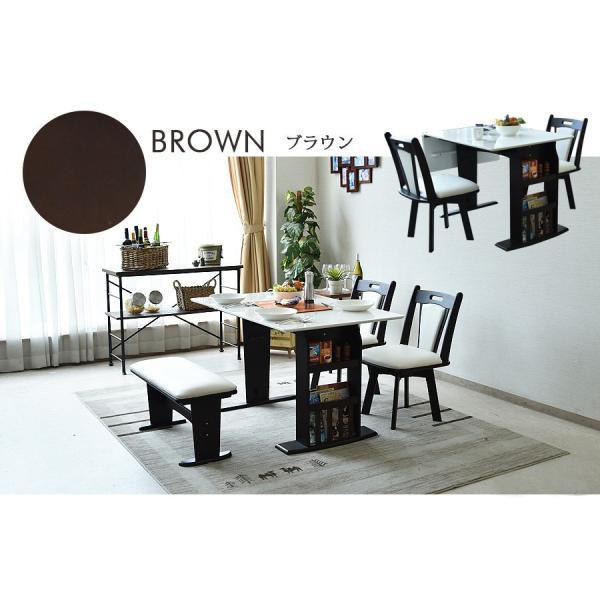 ダイニングテーブルセット 4点 ベンチ 北欧 カフェ 伸長式 回転|kagunomori|13