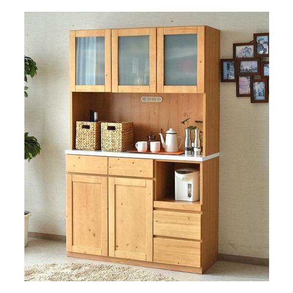 食器棚 キッチンボード 幅120 完成品 木製品 無垢 カップボード kagunomori 04