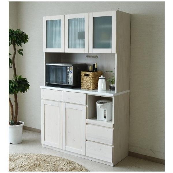 食器棚 キッチンボード 幅120 完成品 木製品 無垢 カップボード kagunomori 05