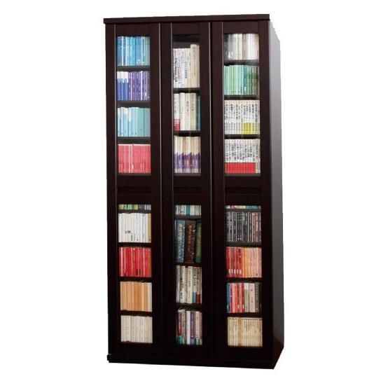 スライド書棚 スライド600 本棚 日本製 アイランド社製  ガラス扉付き 大量収納 |kaguranger|13