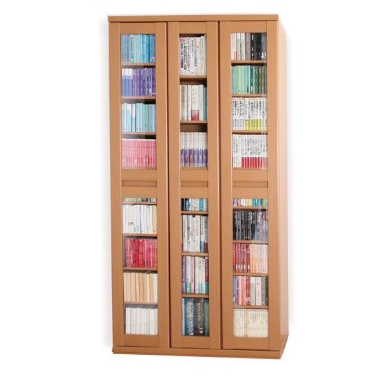 スライド書棚 スライド600 本棚 日本製 アイランド社製  ガラス扉付き 大量収納 |kaguranger|14
