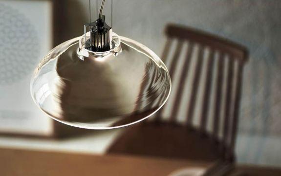 LED内蔵 ガラスセードペンダント照明