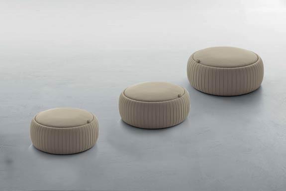イタリア Tonin Casa収納式丸型デザインローソファーPLISS?