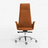 HIGH BACKREST ARMCHAIR Brown