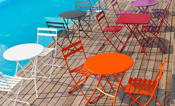 SIRIO - Steel Table ,Spring - Outdoor folding chair