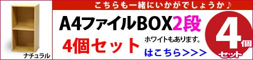 A4ファイルBOX2段(4個セット)