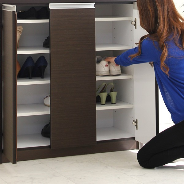 下駄箱 シューズボックス 完成品 靴収納 幅90cm 開梱設置無料