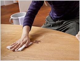 テーブルの除菌