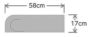 使い捨て ケープ介助グローブ ディスポタイプ CK-488(1箱 50枚入り)のサイズ