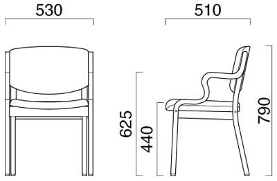 ハーフ肘タイプチェア CR-V1の説明