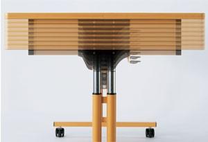 跳ね上げ式昇降機能付きテーブル MRK-F1890の説明