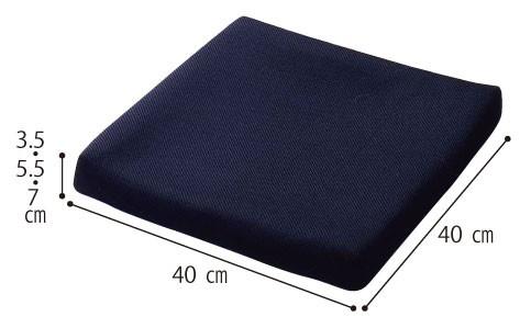 ピタ・シートクッション 55 PT002 ジェル+ウレタン 通気カバータイプ の説明