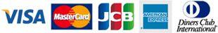 visa/MasterCard/JCB/AMERICAN EXPRESS/Cirvers Club International