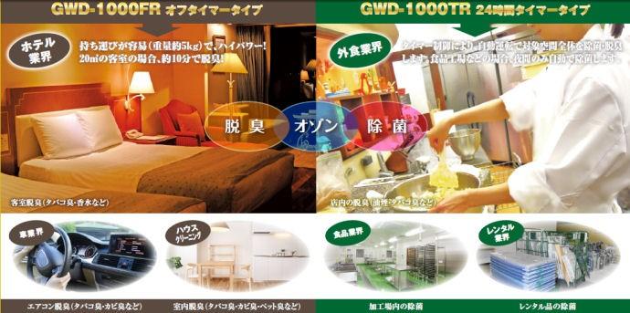 剛腕1000 GWD-1000FR ポータブルオゾン除菌脱臭機
