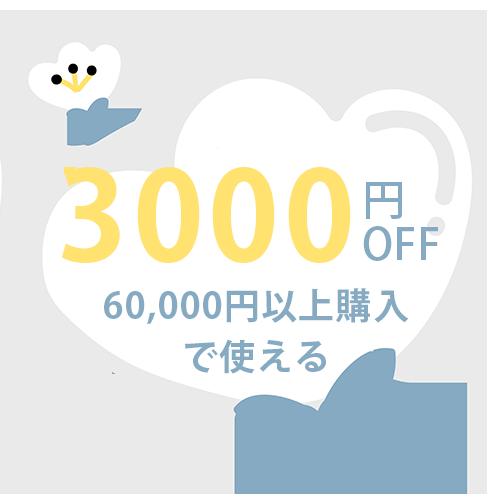 ★☆3000円 OFF~お買い得クーポン☆★ご利用いただきまして、まことにありがとうございました。