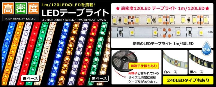 高密度120LED LEDテープライト