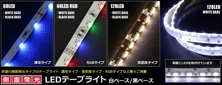 側面発光LEDテープライト