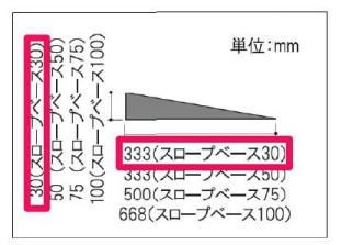 スロープベース30mm
