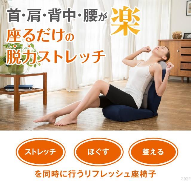 骨盤ポール座椅子 のび〜る 首・肩・背中・腰が楽に座るだけの脱力ストレッチ 美バランス